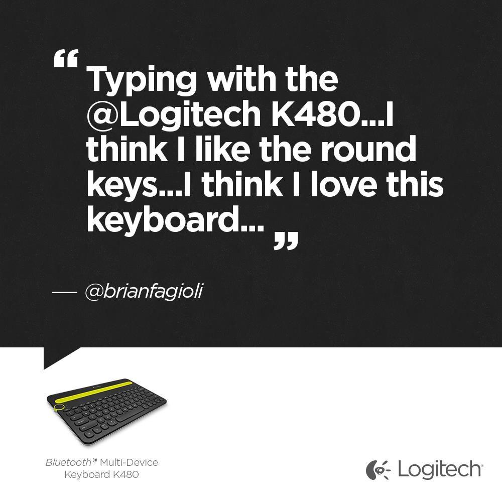 Our fan loves the bluetooth multidevice keyboard k480