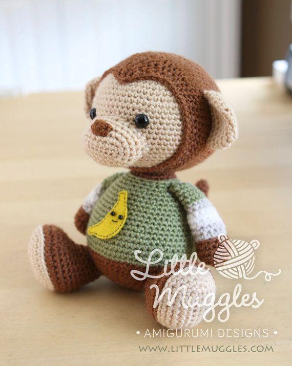 Amigurumi Crochet patrón millas el mono por littlemuggles en Etsy ...