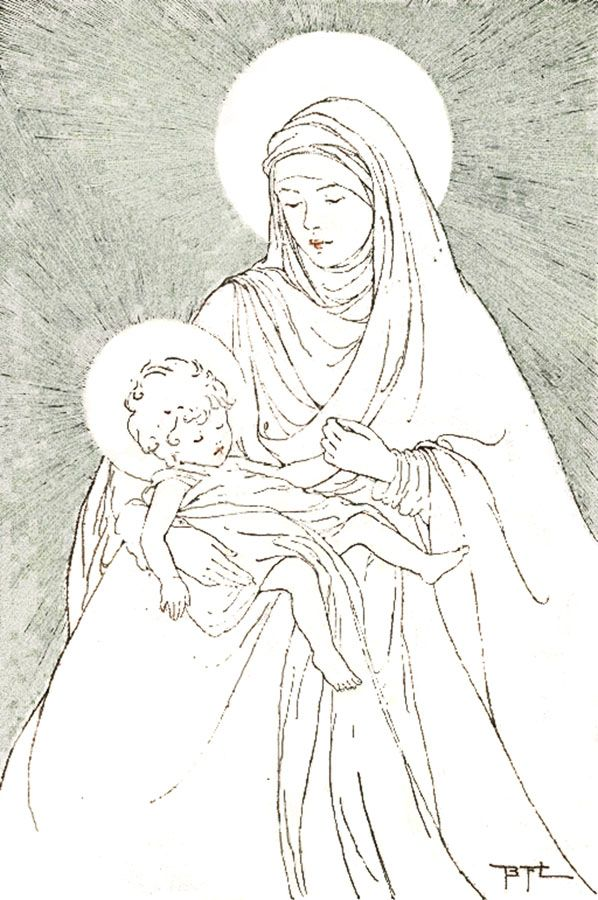 father mazzuchellis story for children plus coloring pages - Mary Baby Jesus Coloring Page