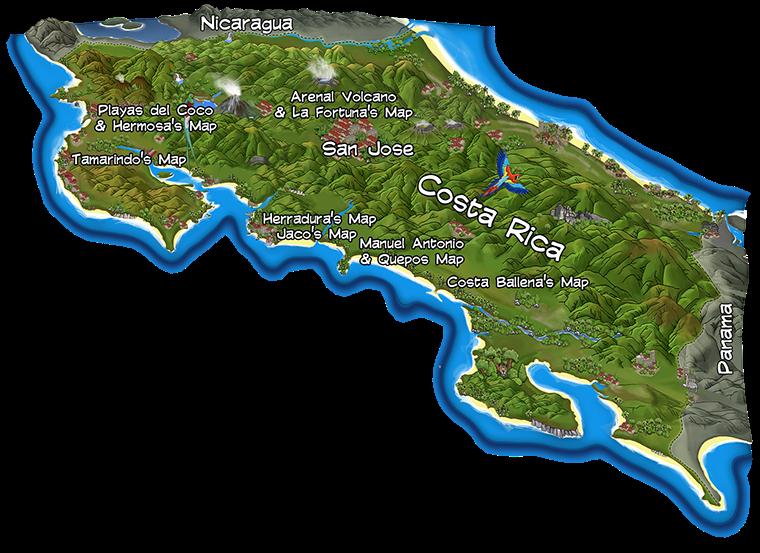 Costa Rica Maps Amp Travel Costa Rica Map Costa Rica Cost Rica