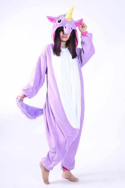 90df082514 Pijama De Unicornio Púrpura