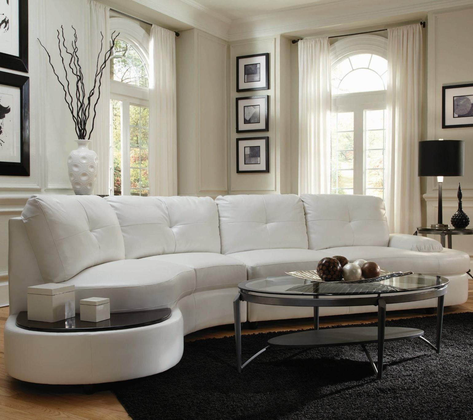 Talia Contemporary Sectional Conversation Sofa with Built