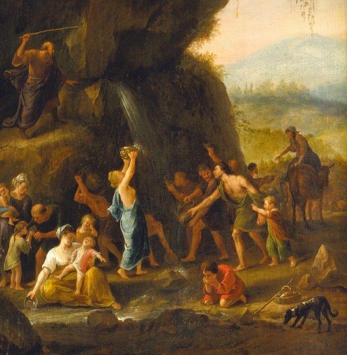jan steen mozes slaat water uit de rots ca 1651 1653