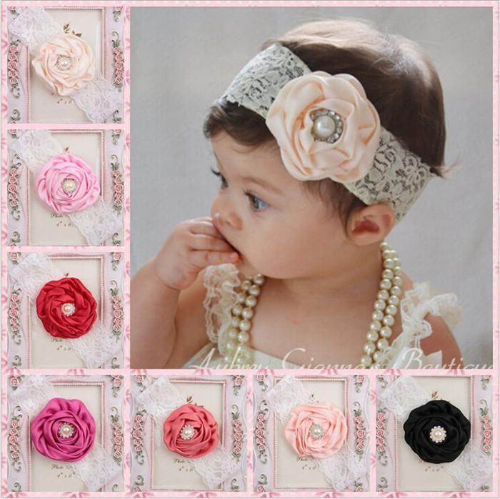 Best Quality Wholesale Baby Girls Headbands Mix Flower Hairbands Children  Hair Accessories Fashion Flower Elastic Hair Bands Kha88 At Cheap Price 7093d1e41e63