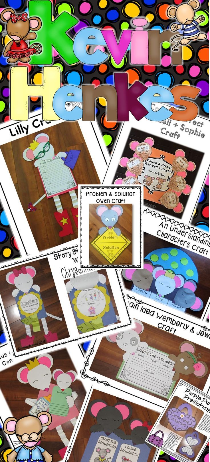 Kevin Henkes Author Study Activities Crafts Printables