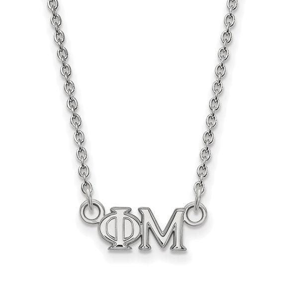 Zales Alpha Epsilon Phi Medium Sorority Necklace in Sterling Silver NQ4ytU