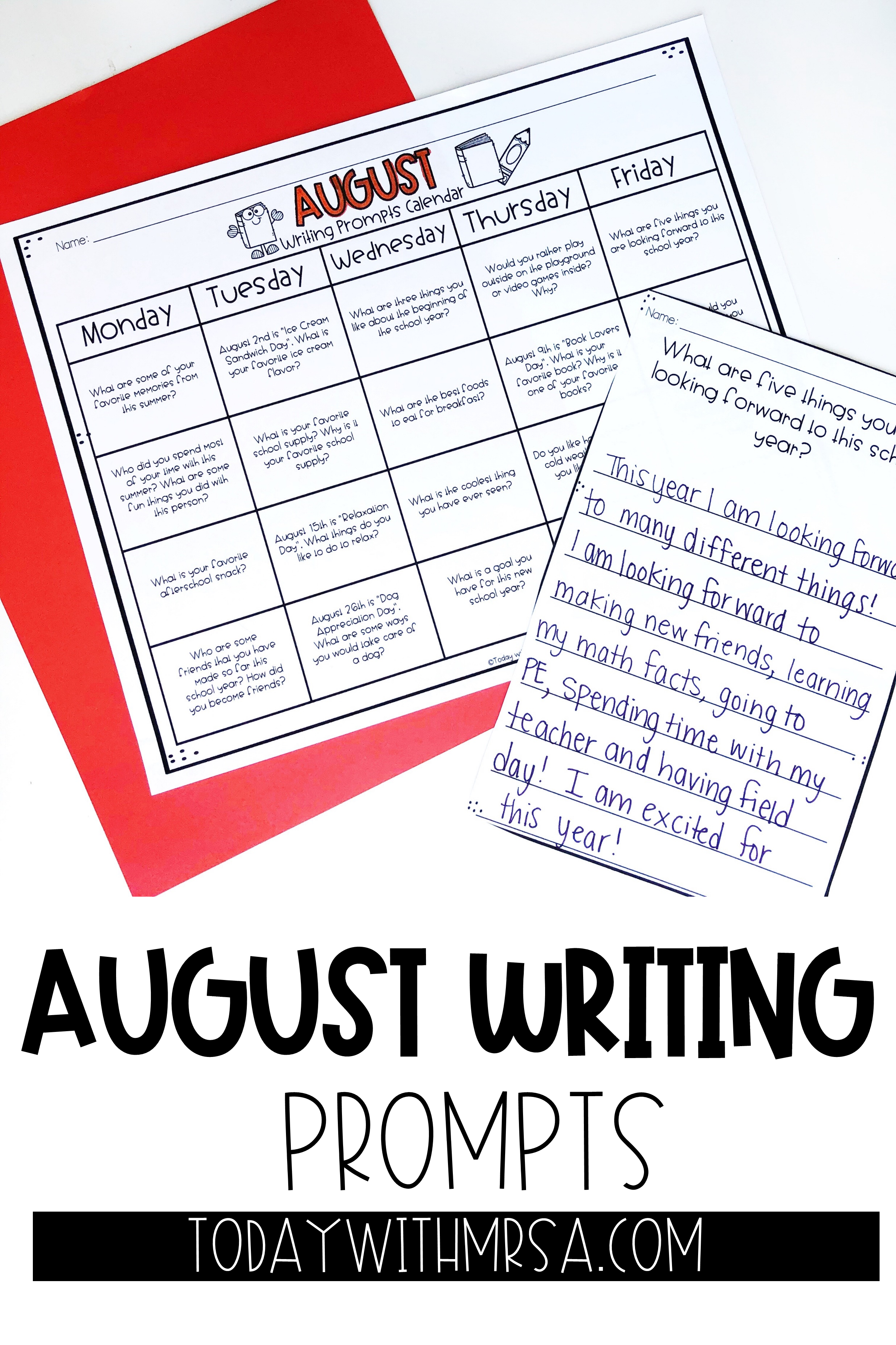 August Writing In