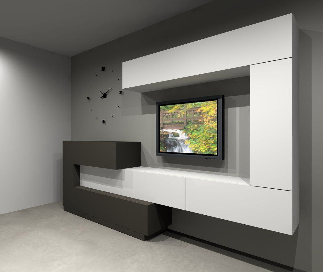 Vive muebles salon comedor en 2019 modern tv cabinet - Wall units for living room mumbai ...