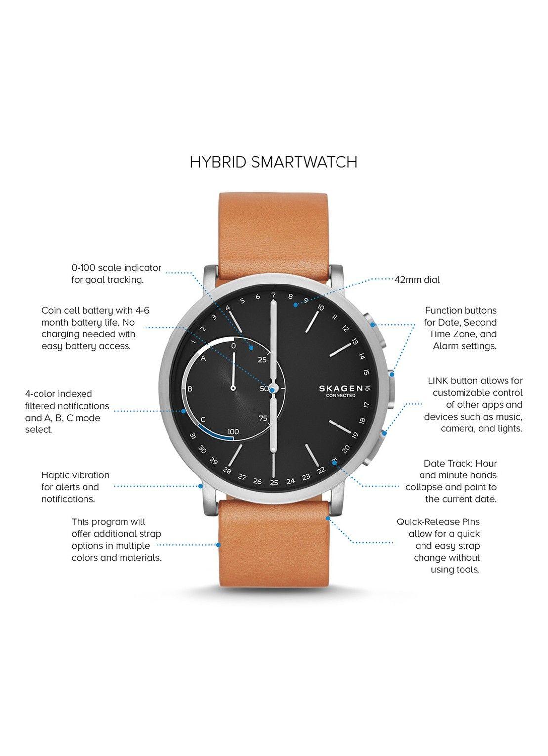 Skagen Hybrid Smartwatch Hagen Skt1104 De Bijenkorf Hybrid