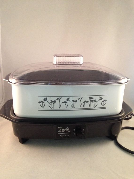 Vintage West Bend 4 Qt Slow Cooker And By Thumbbuddywithlove Coccion Lenta Olla De Coccion Lenta Ollas