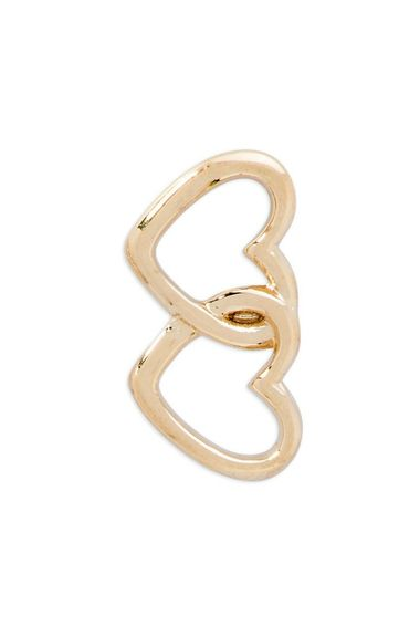 Interlocking hearts, gold - $9