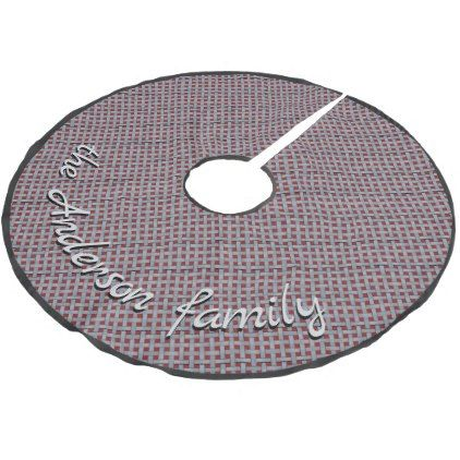 Neutral Rustic Wicker Silver with Custom Text Brushed Polyester Tree