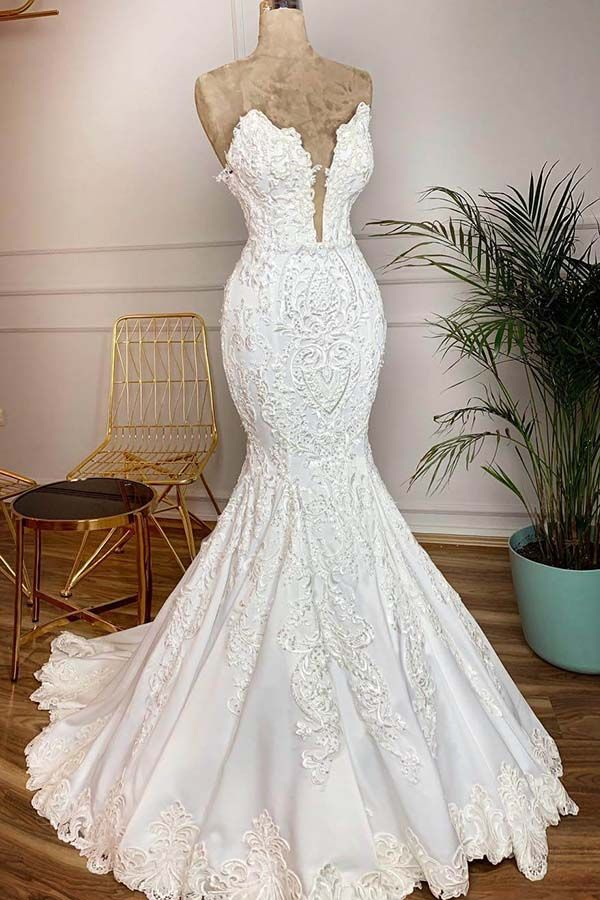 US $382.84 33% OFF|Vestidos De Novia Vintage Lace Mermaid Wedding Dress Sexy Deep V Neck Backless Beads Pearls Wedding Gowns Gelinlik|Wedding Dresses|   - AliExpress