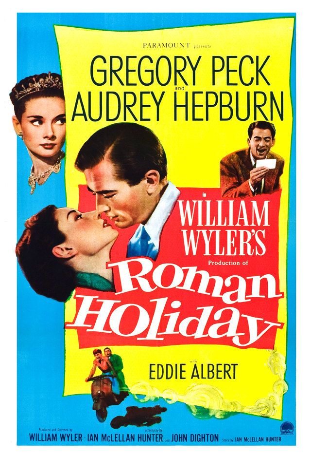 Roman Holiday - Home Theater Decor - Romance Classic - Movie Poster Print  13x19 - Audrey Hepburn - Gregory Peck. $19.50, via Etsy.