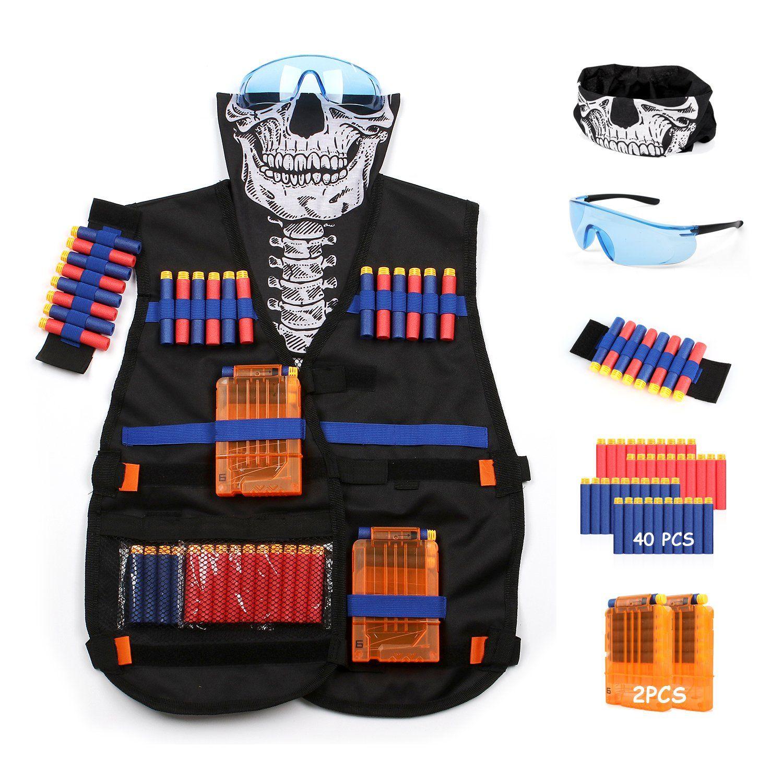 Afala Tactical Vest Kit for Nerf Guns N Strike Elite Series Tactical vest kits