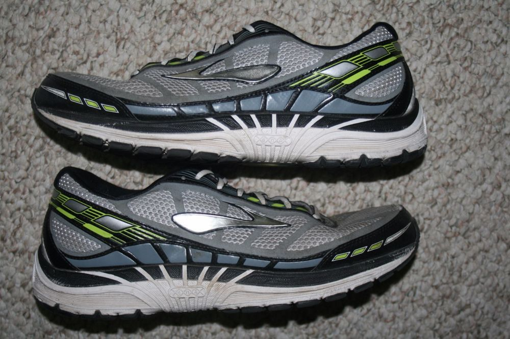 000c23022b7 Brooks Dyad 8 running shoes 11 mens 45 European gray black   yellow eleven  men  Brooks  RunningCrossTraining 11 1 2