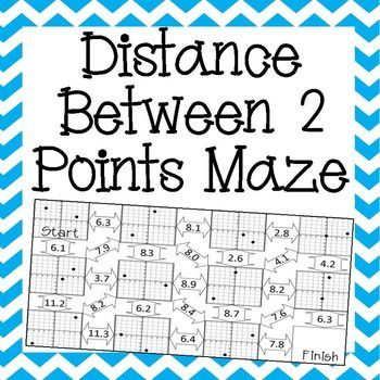 Distance Worksheet Maze Activity Distance Formula Midpoint Formula 8th Grade Math Worksheets The distance formula worksheet answers