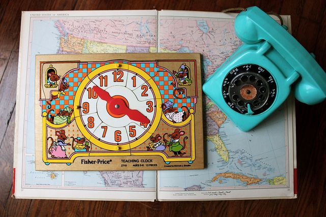 Vintage Wooden Clock Puzzle by Smile And Wave, via Flickr