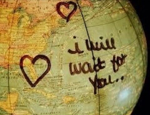 I will wait for you... but I will die if I don't have one hug of you.