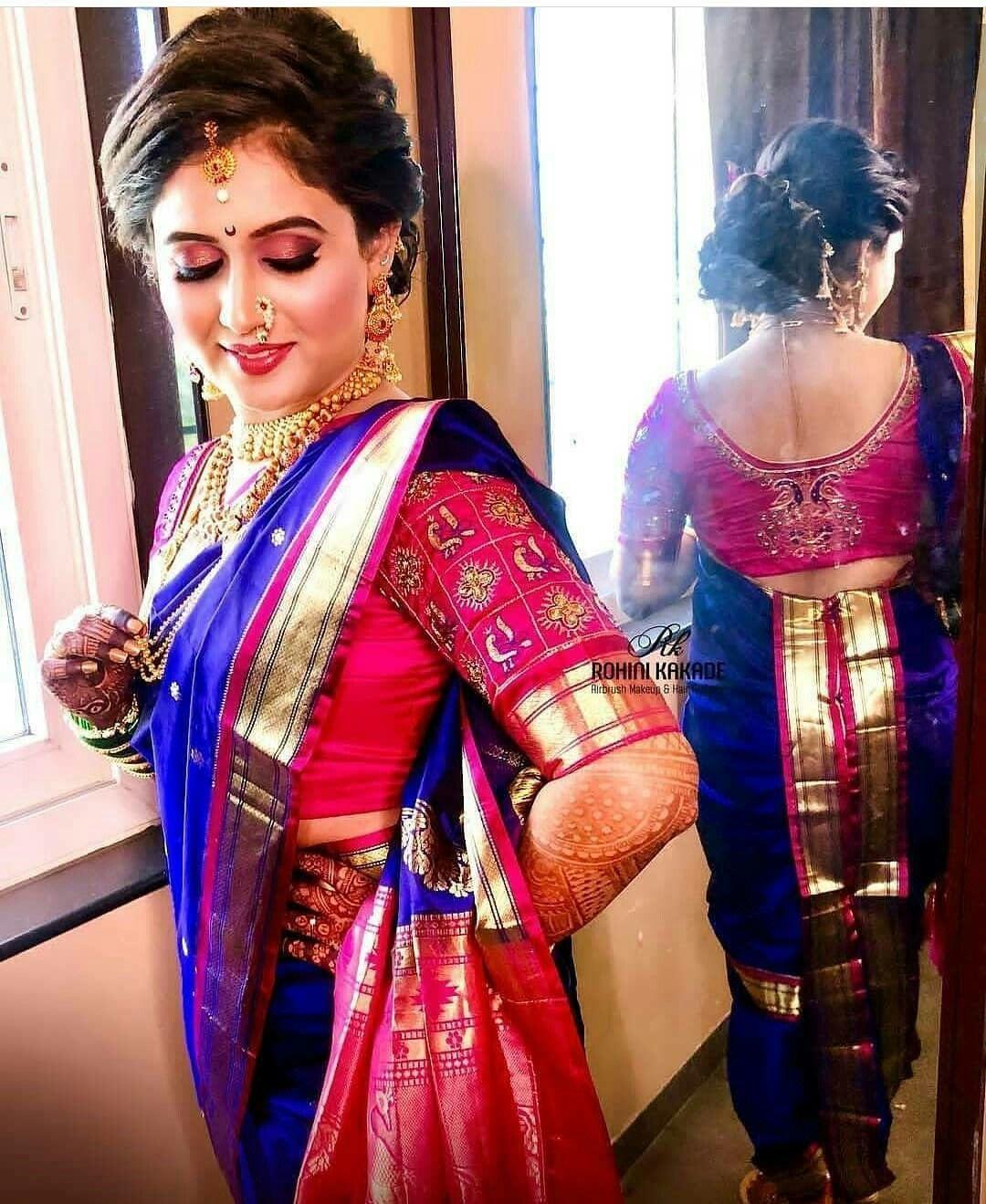 Image By Artcollector On Marathi Saree Hairstyles Nauvari Saree