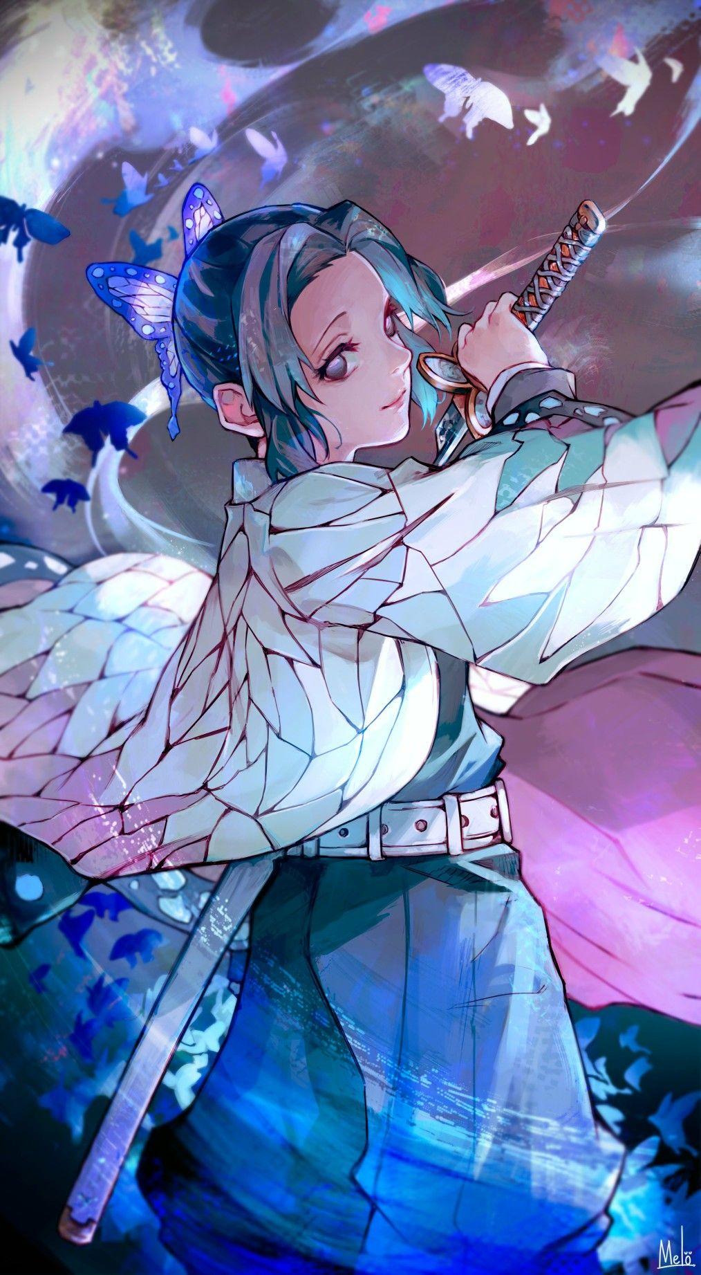 Shinobu Kocho Butterflies Kimetsu no Yaiba 4K HD Mobile