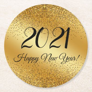 happy new year 2021,gold metallic background Class