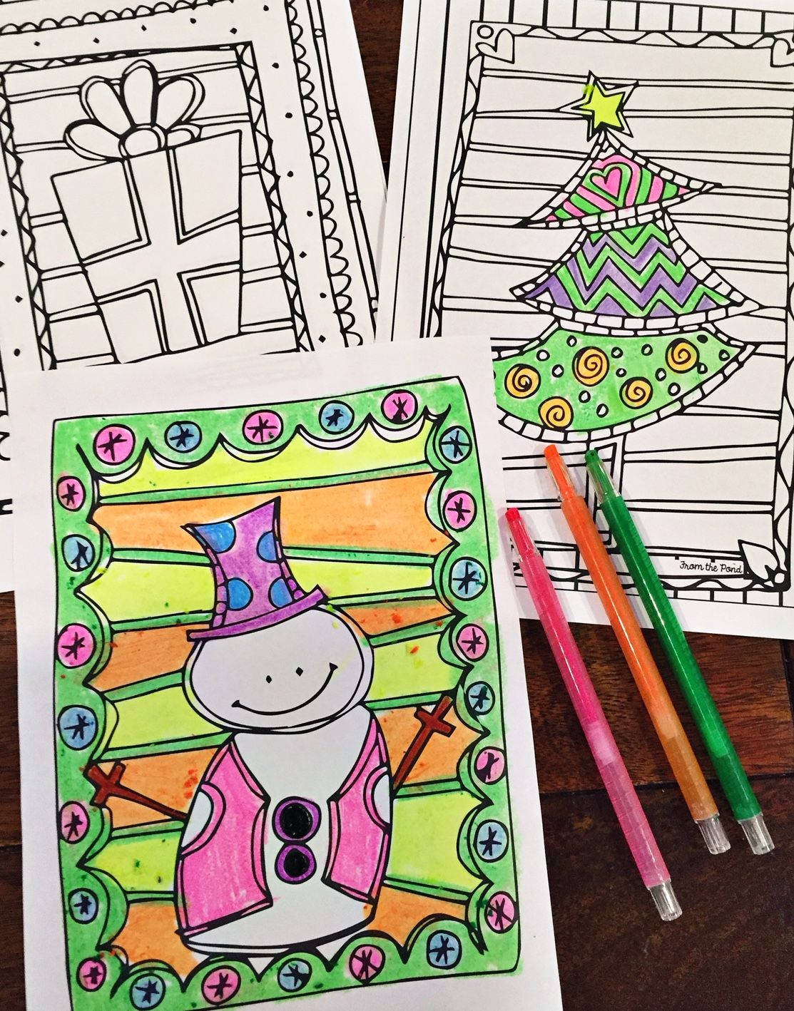 Christmas Coloring Pages | Kindergarten, Activities and School lessons