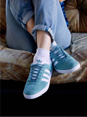 91f62eae3102 Adidas Gazelle trainers in light blue   shoes   sneakers   fashion   camden    white   classic   lifestyle   instagram   trainers   shop   bestseller ...