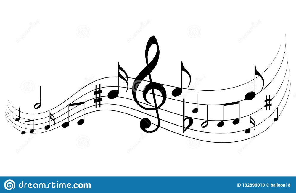 Music notes stock vector. Illustration of harmony, music