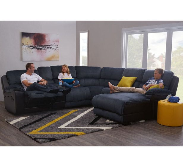 Wonderful Boston 6 Seater Recliner Modular Chaise