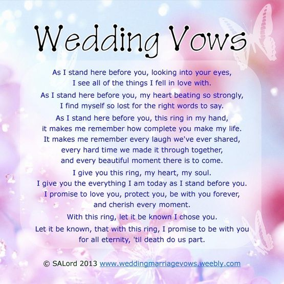 Wedding ceremony without vows