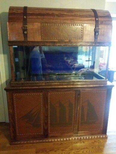 Treasure chest aquarium stand treasure chest aquarium for Fish tank treasure chest