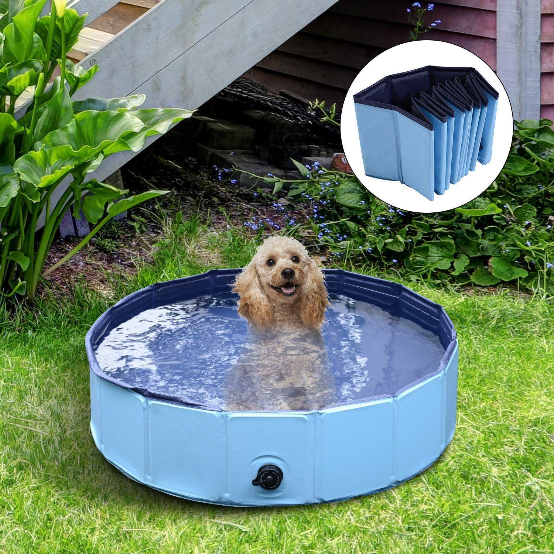 PawHut Pet Swimming Foldable Bathing Tub Padding Pool