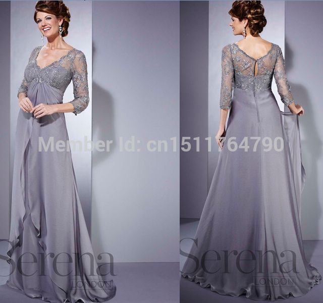 silver long dresses for mother of groom wedding | Wholesale ...