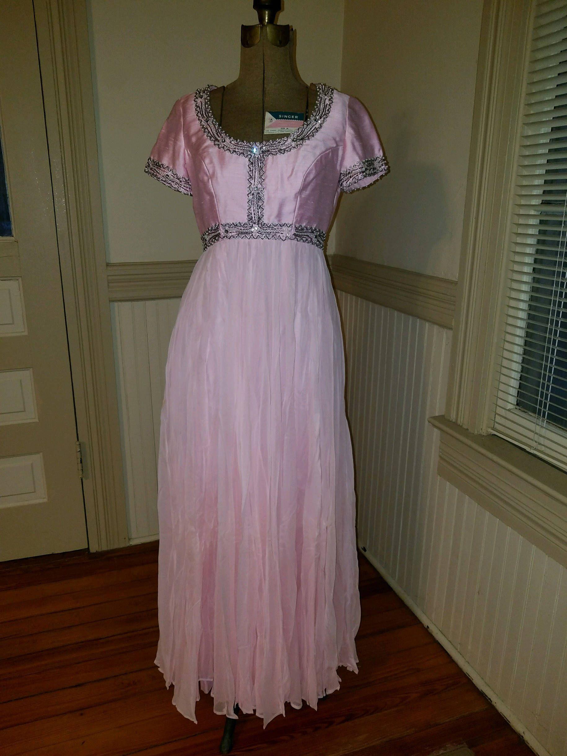 S prom dress light pink chiffon rhinestones dress pinterest