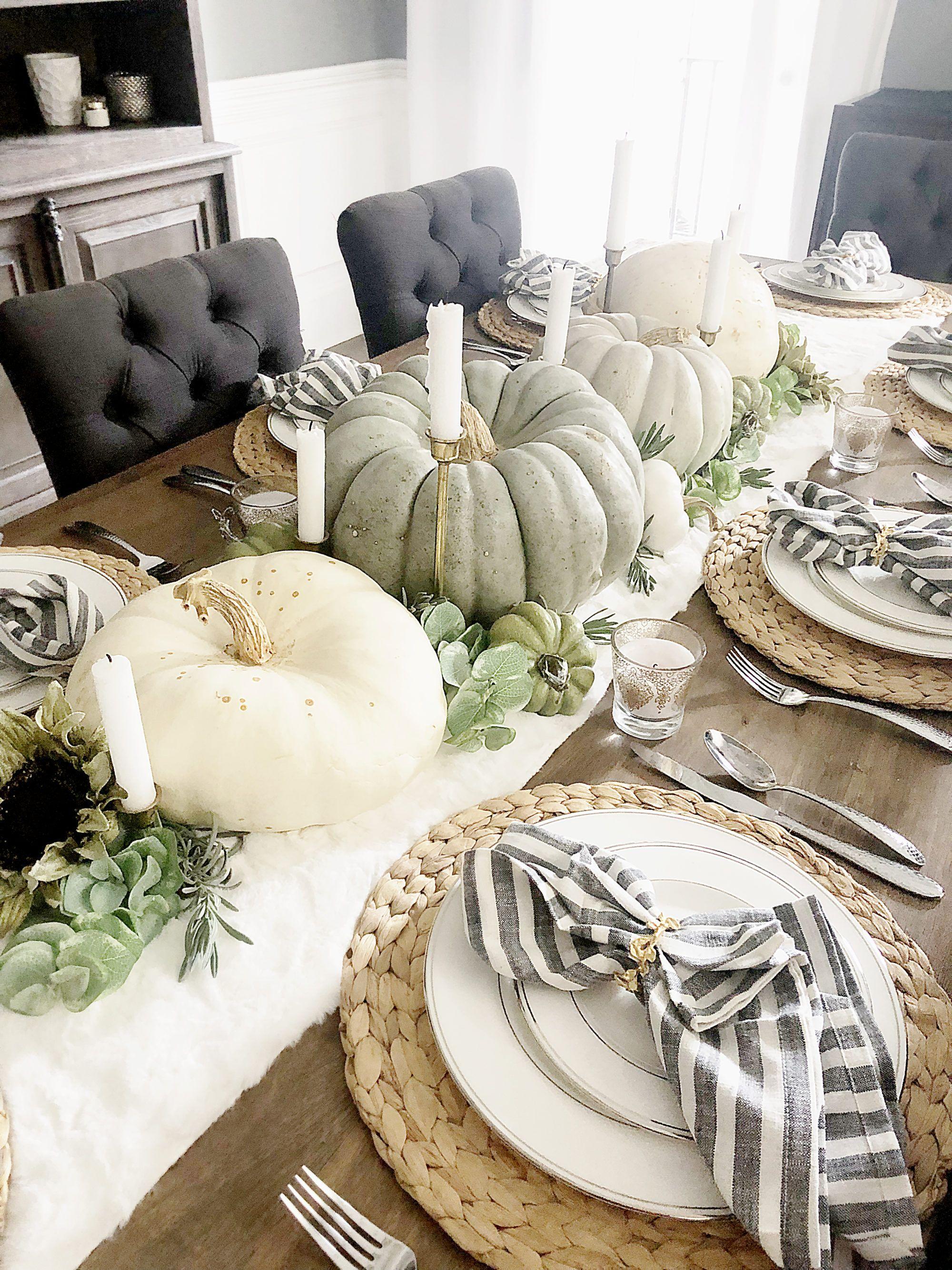 Eight Easy Thanksgiving Table Settings #thanksgivingtablesettings