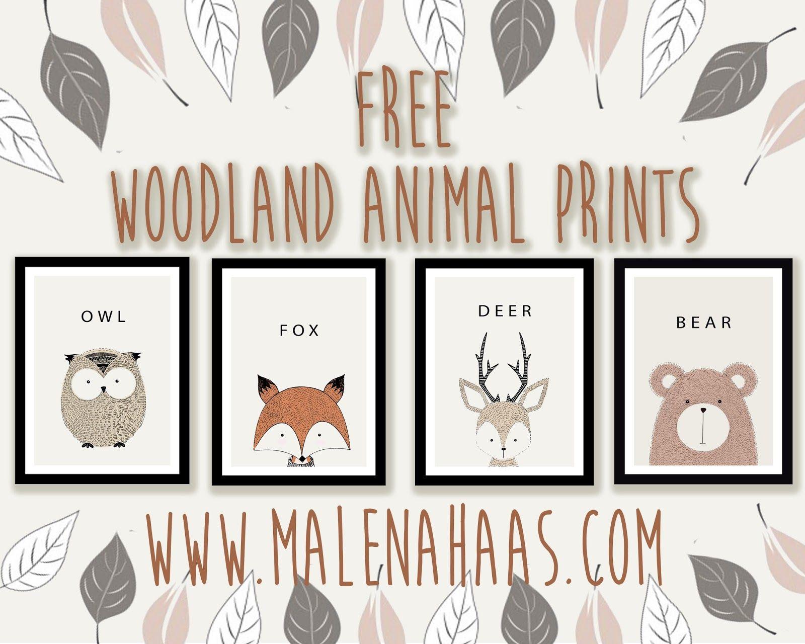 FREE Woodland Animal Printables Free baby shower