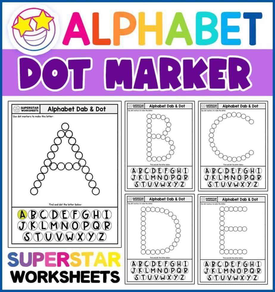 Alphabet Worksheets In 2020 Alphabet Worksheets Dot Markers Letter Recognition