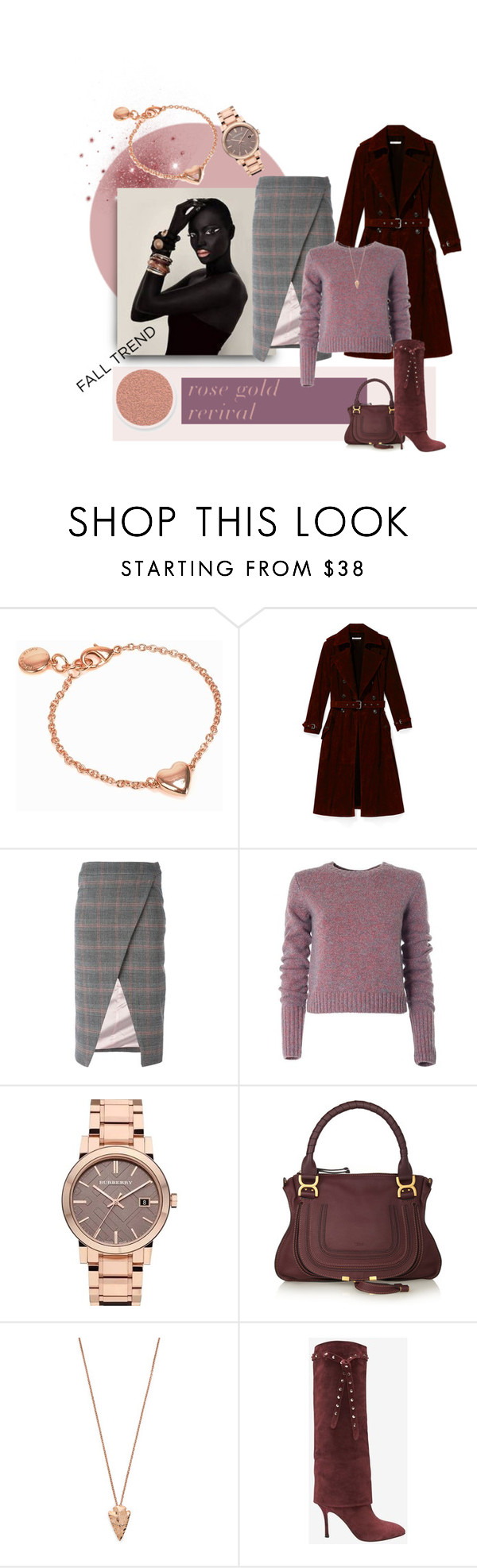 """Rose Revival"" by michelletheaflack ❤ liked on Polyvore featuring Nikon, Snö Of Sweden, Rebecca Minkoff, Filles à papa, Marc by Marc Jacobs, Burberry, Chloé, Pamela Love, Valentino and rosegold"