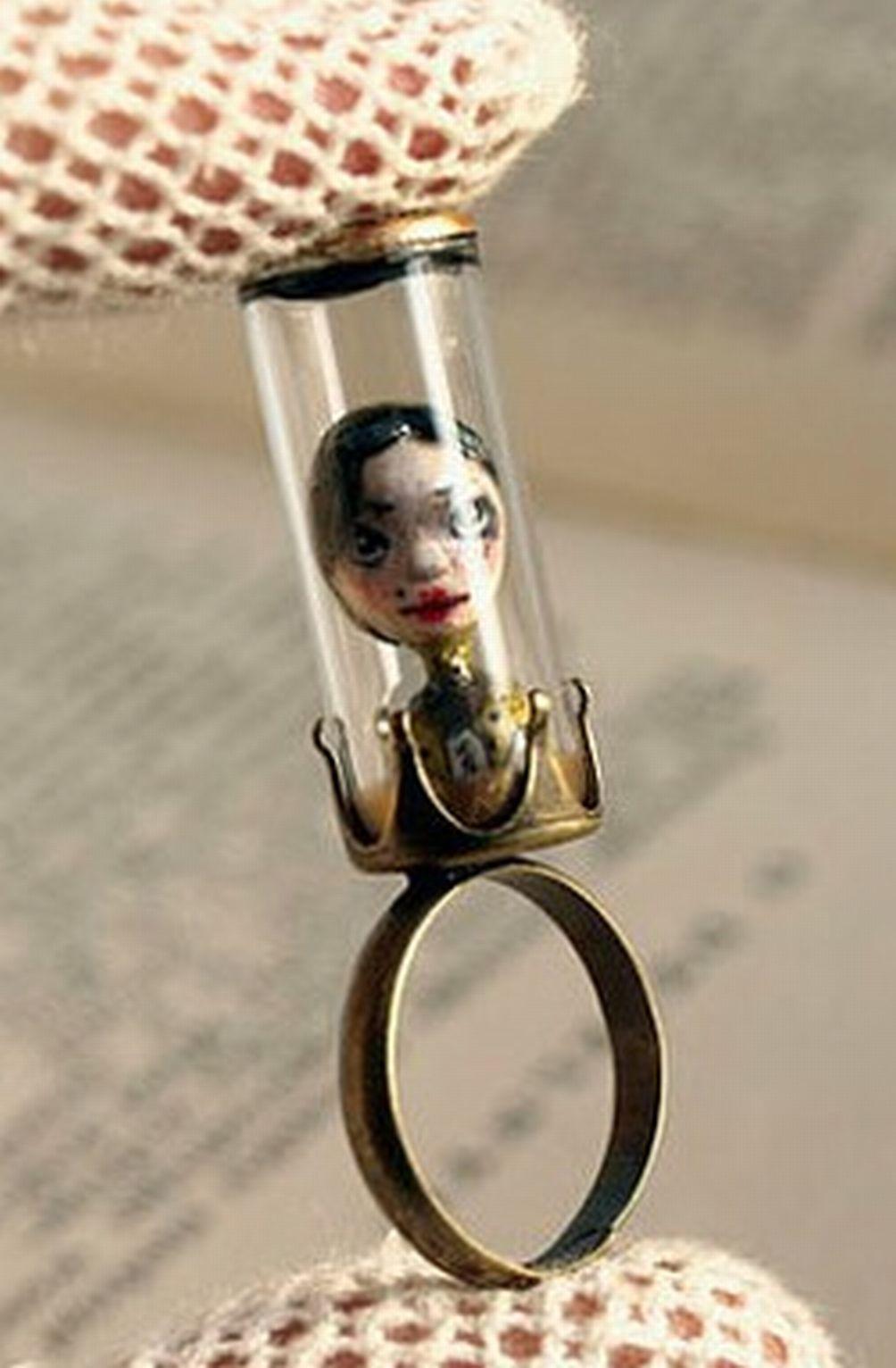 Mini Doll under Glass  Ring  - LOVE!!