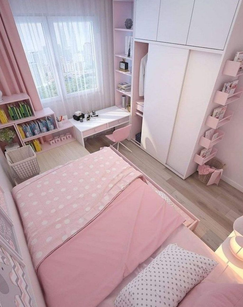 Sumptuous Simple Suggestions For Adorning Small Bedrooms Small Apartment Bedrooms Small Room Design Bedroom Apartment Bedroom Design Small bedroom ideas pink