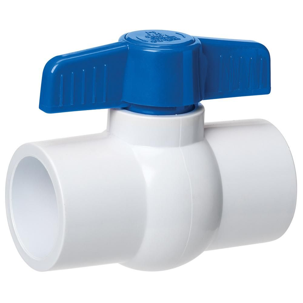 Homewerks Worldwide 1 1 4 In Pvc Sch 40 Slip Joint X Slip Joint Ball Valve Vbvp40e6b The Home Depot In 2020 Pvc Valve Valve Pvc Moulding