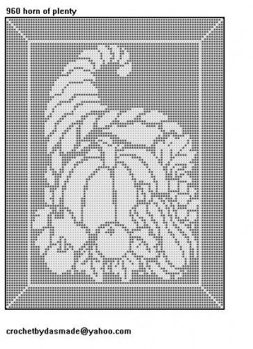 960 horn of plenty thanksgiving fall filet crochet pattern filet 960 horn of plenty thanksgiving fall filet crochet pattern dt1010fo