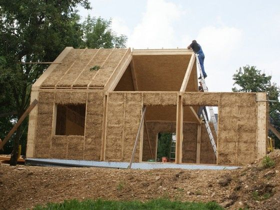 Prefab straw bale google search straw bale house for Sous produit du chanvre