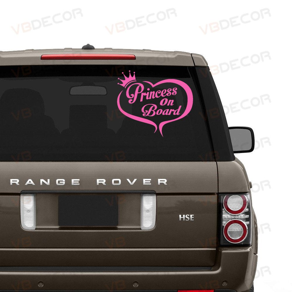 Princess On Board Decal 0186 Baby In A Car Decal Sticker Baby Girl On Board Decal Princess On Board Child In A Car Chil Car Car Decals Stickers Car Decals [ 1000 x 1000 Pixel ]