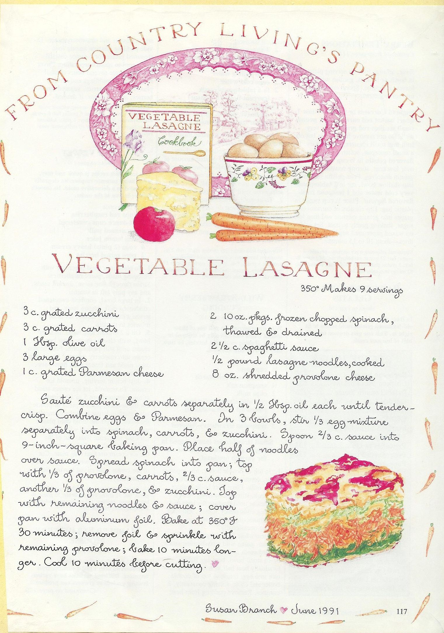 April 19 2013 vegetable lasagne after going to link for for Country living magazine recipes