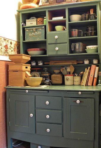 - traditional - kitchen   Hoosier cabinet, Kitchen ...