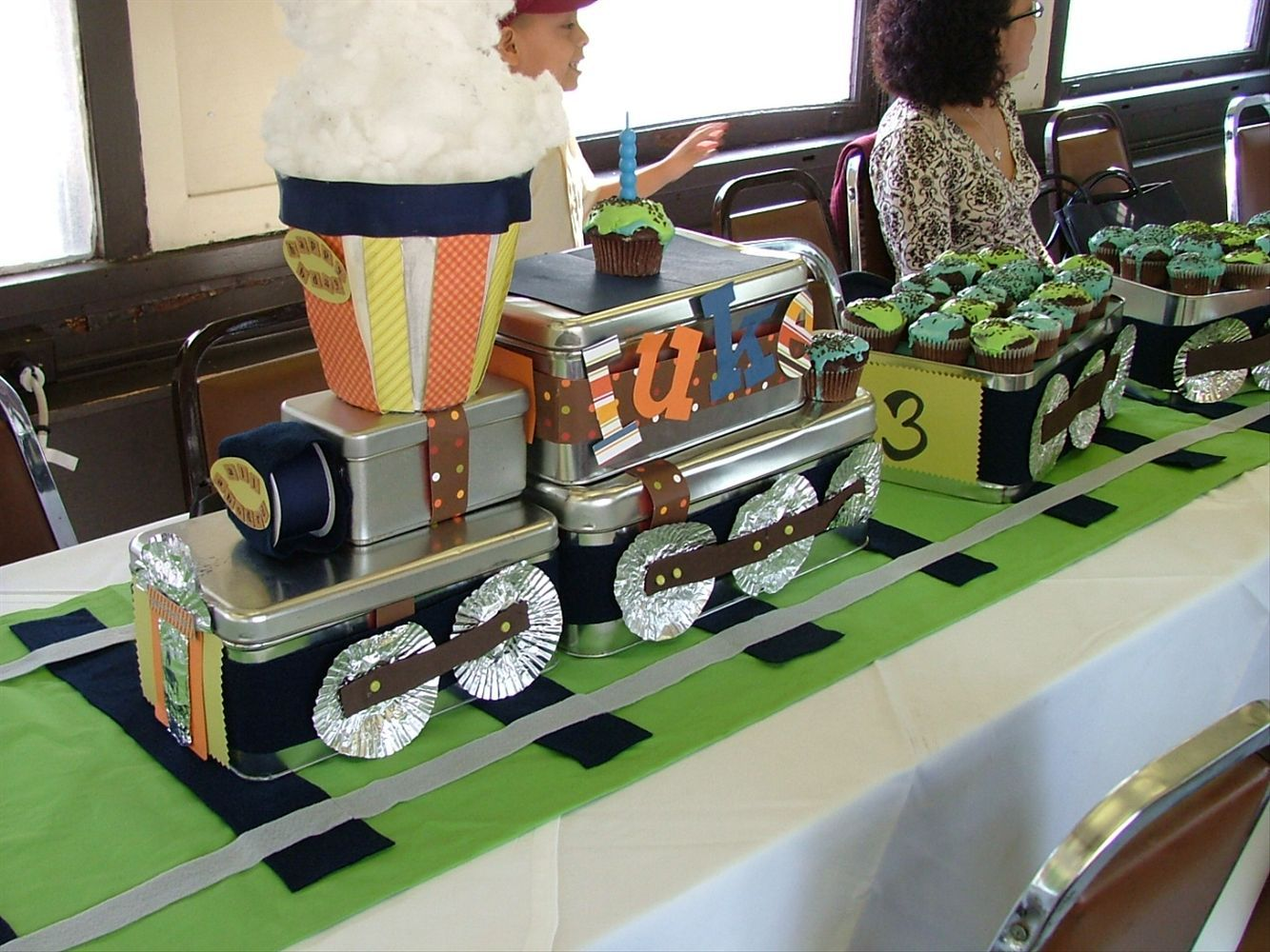 Train Centerpiece And Track Table Runner