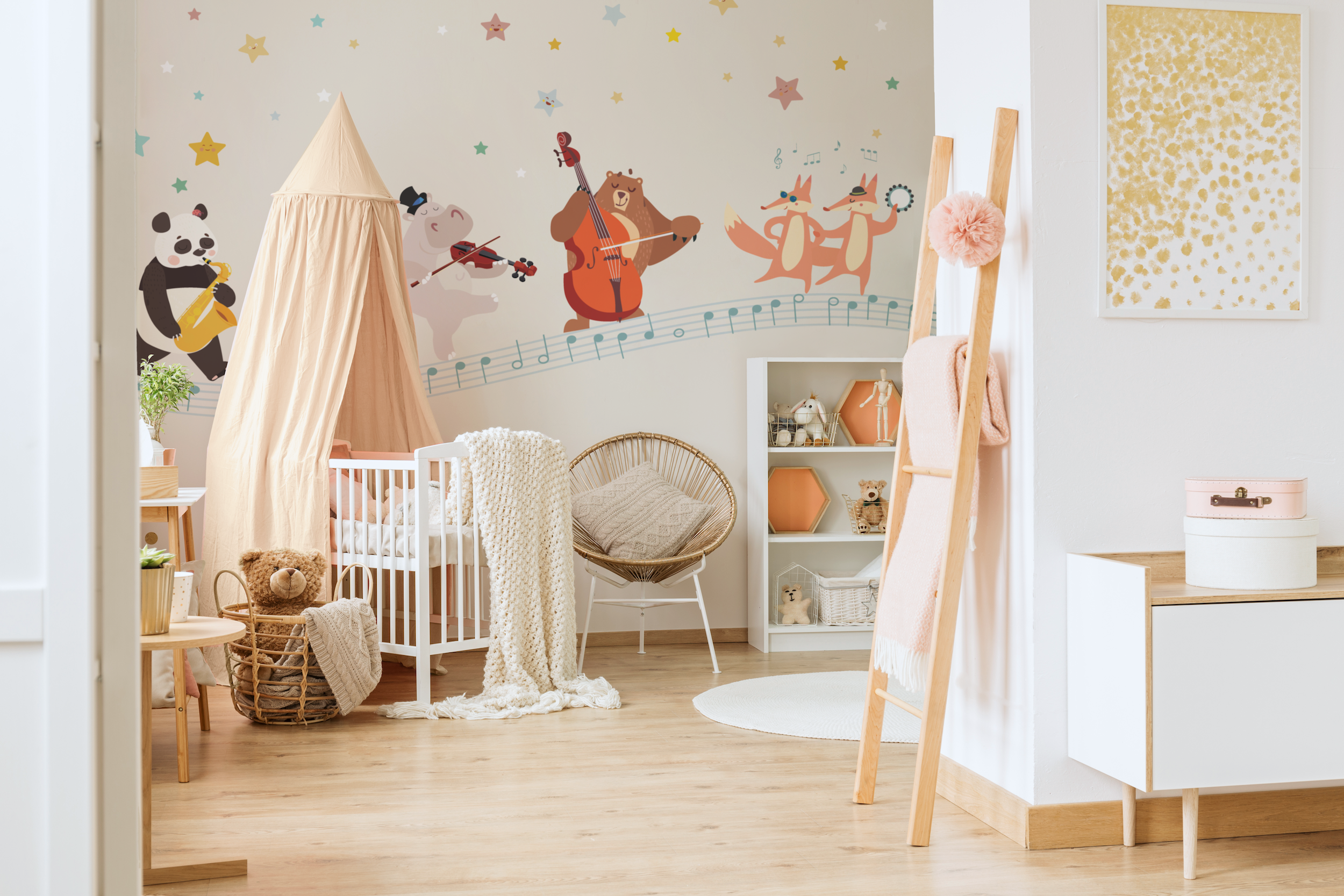 Carta Da Parati Su Misura.Mon Ami Pierrot Carta Da Pa Cute Nursery Wallpaper Baby