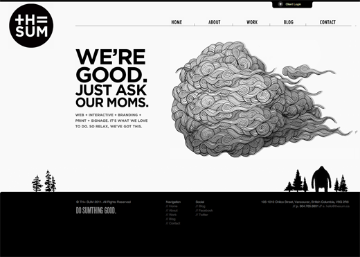 9 Gorgeous Examples Of Black And White Websites Simple Web